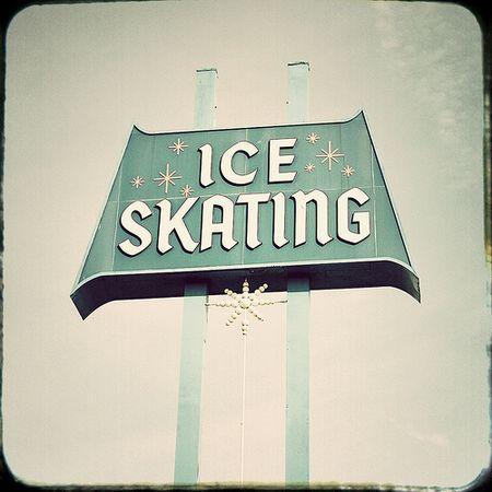Ice skating sign